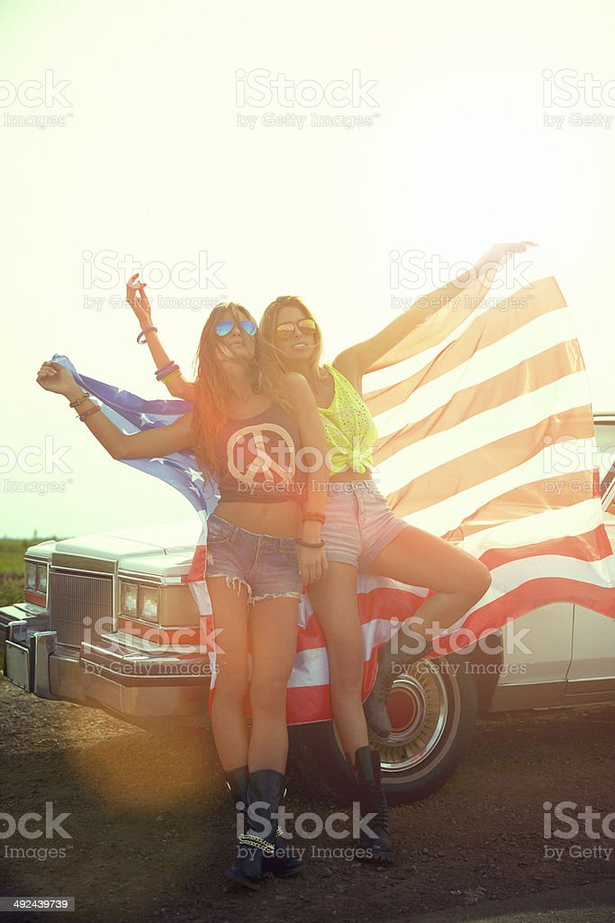 Hipster patriots stock photo