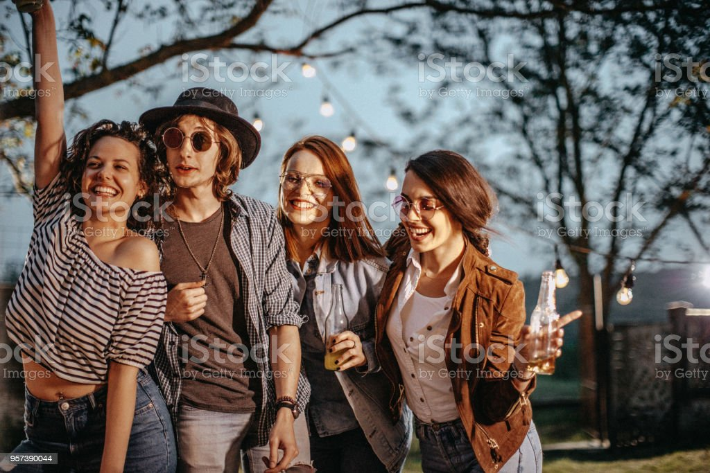 Hipster People Celebrating Stock Photo - Download Image Now