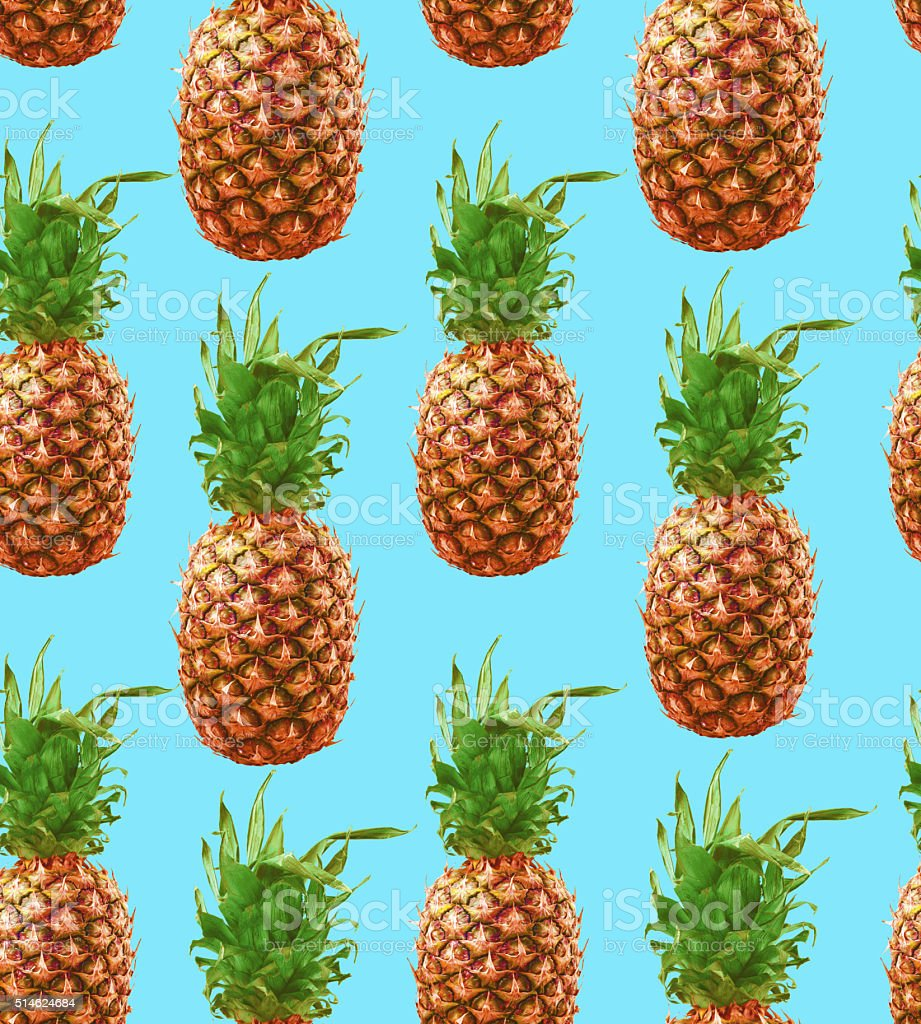 Hipster pineapple seamless pattern background stock photo