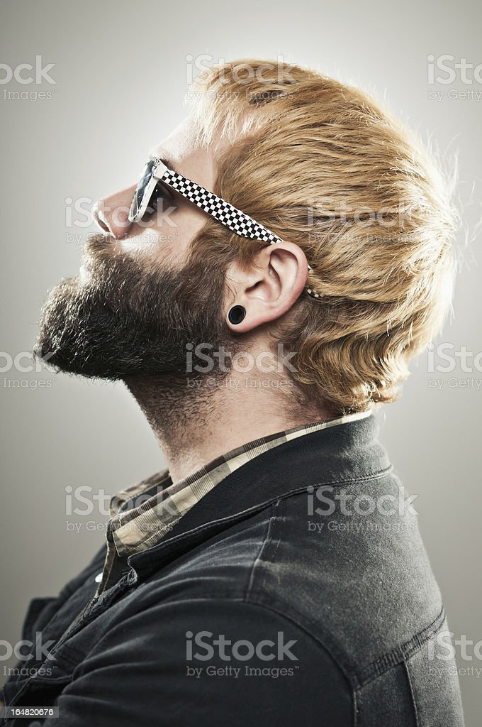 Hipster Profile stock photo