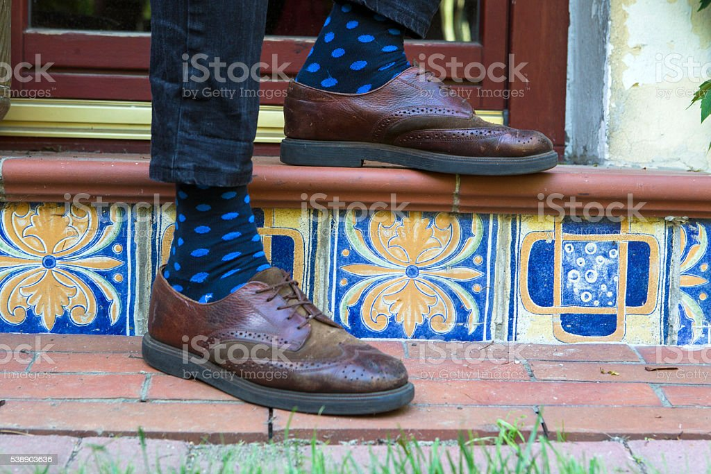 Hipster shoes stock photo