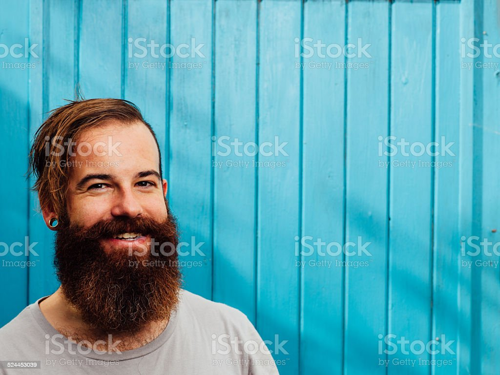 Hipster style bearded man stock photo