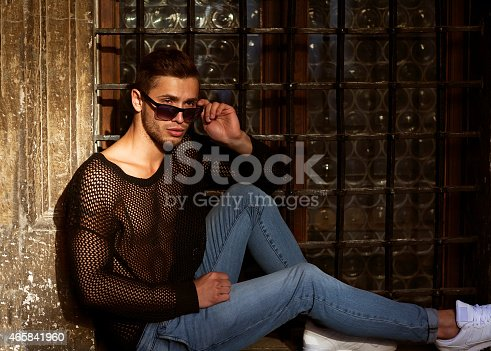 istock Hipster style guy. 465841960