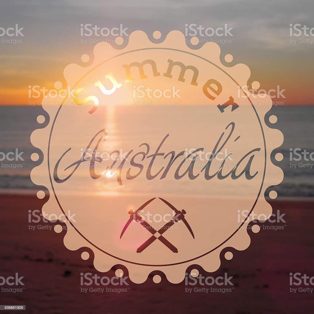 hipster summer australia royalty-free stock photo