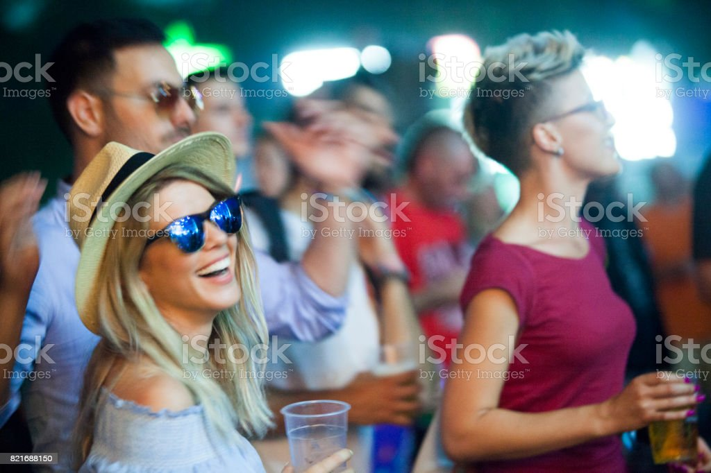Hipsters have best festival ever stock photo