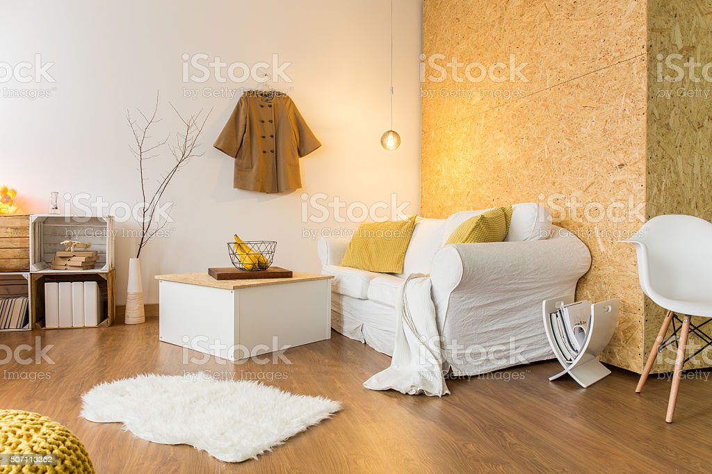 Hipster's home designed with creative idea stock photo