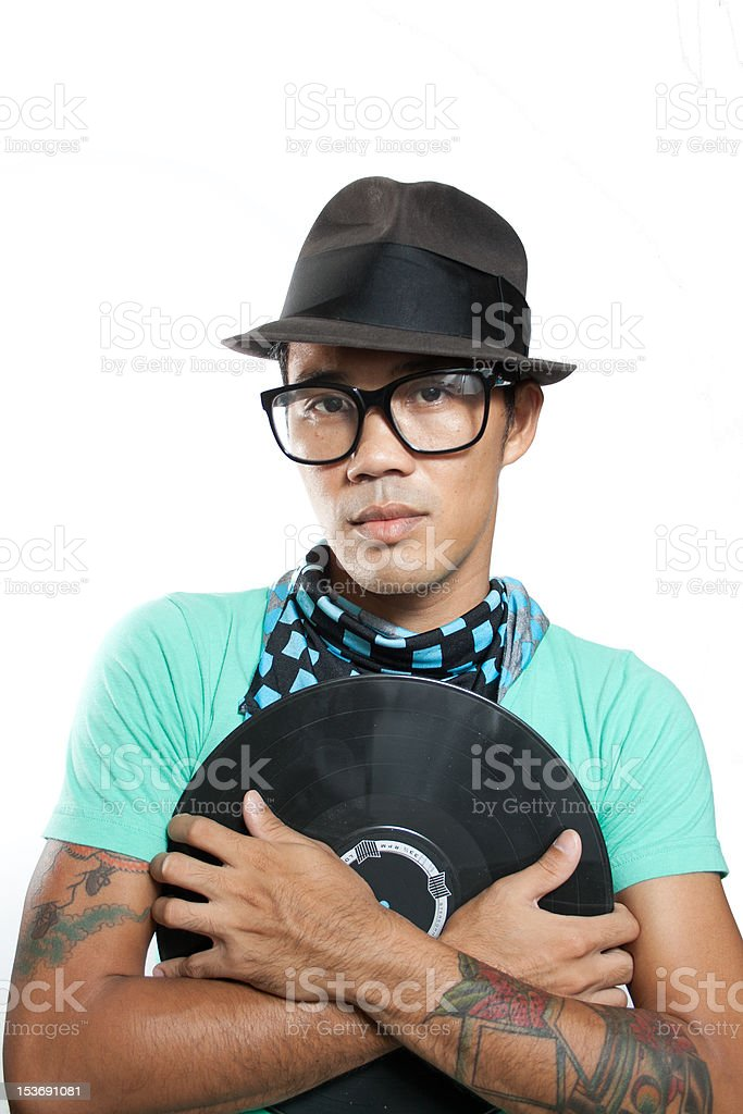 Hipsters love vinyl royalty-free stock photo
