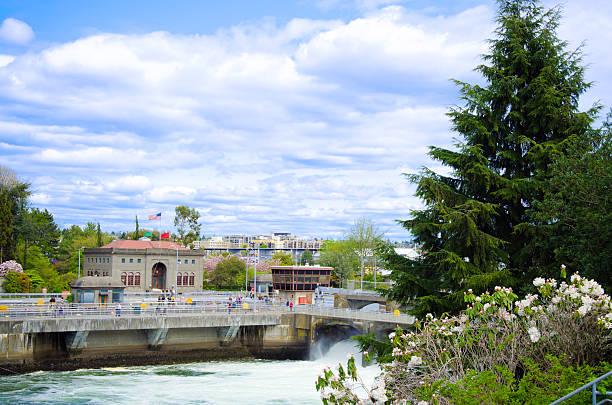 Hiram M. Chittenden Locks in Seattle, WA stock photo
