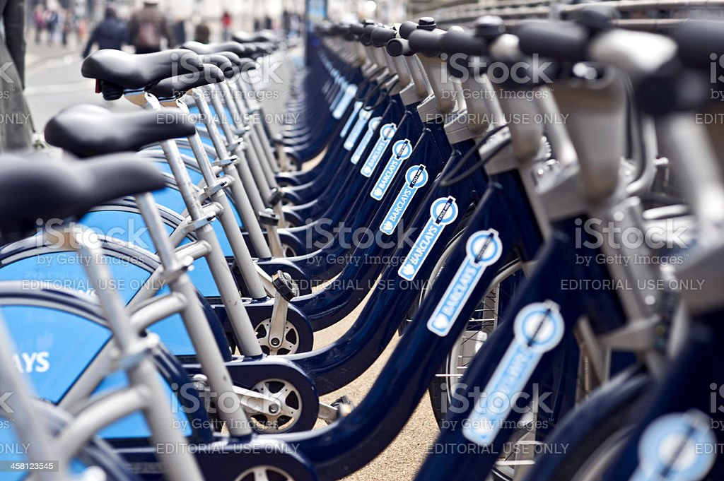 Hire bikes stock photo