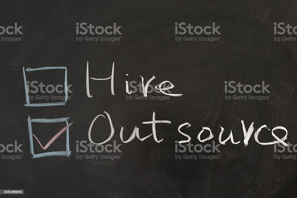 Hire or outsource stock photo