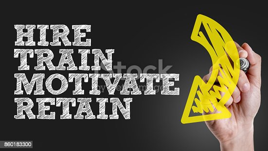 477419728istockphoto Hire - Train - Motivate - Retain 860183300