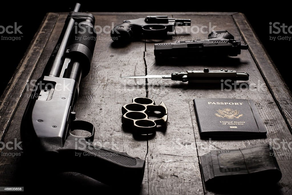 Hired Gun: Tools of the Trade stock photo
