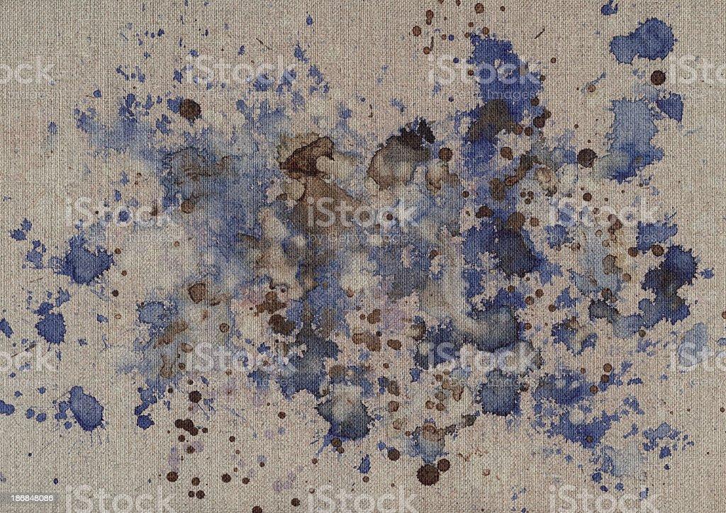 Hi-Res Acrylic Painting On Unprimed Linen Duck Coarse Grain Canvas royalty-free stock photo