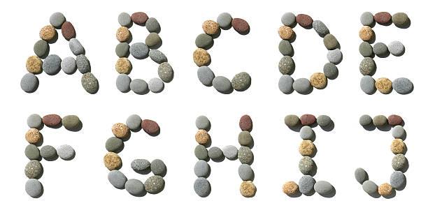 Hi-res alphabet made of pebble - 1 stock photo