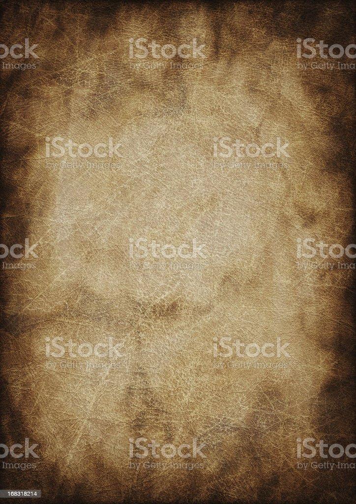 Hi-Res Ancient Animal Skin Parchment Vignette Grunge Texture royalty-free stock photo