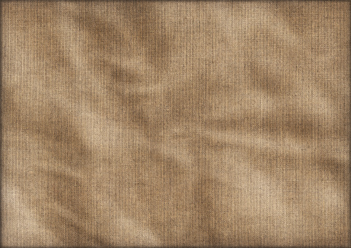 This High Resolution, Antique Artist Linen Duck Canvas, Crumpled Vignette Grunge Texture, is excellent choice for implementation in various 2-D and 3-D CG design projects.