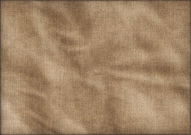 Hi-Res Antique Artist Linen Duck Canvas Crumpled Vignette Grunge Texture stock photo