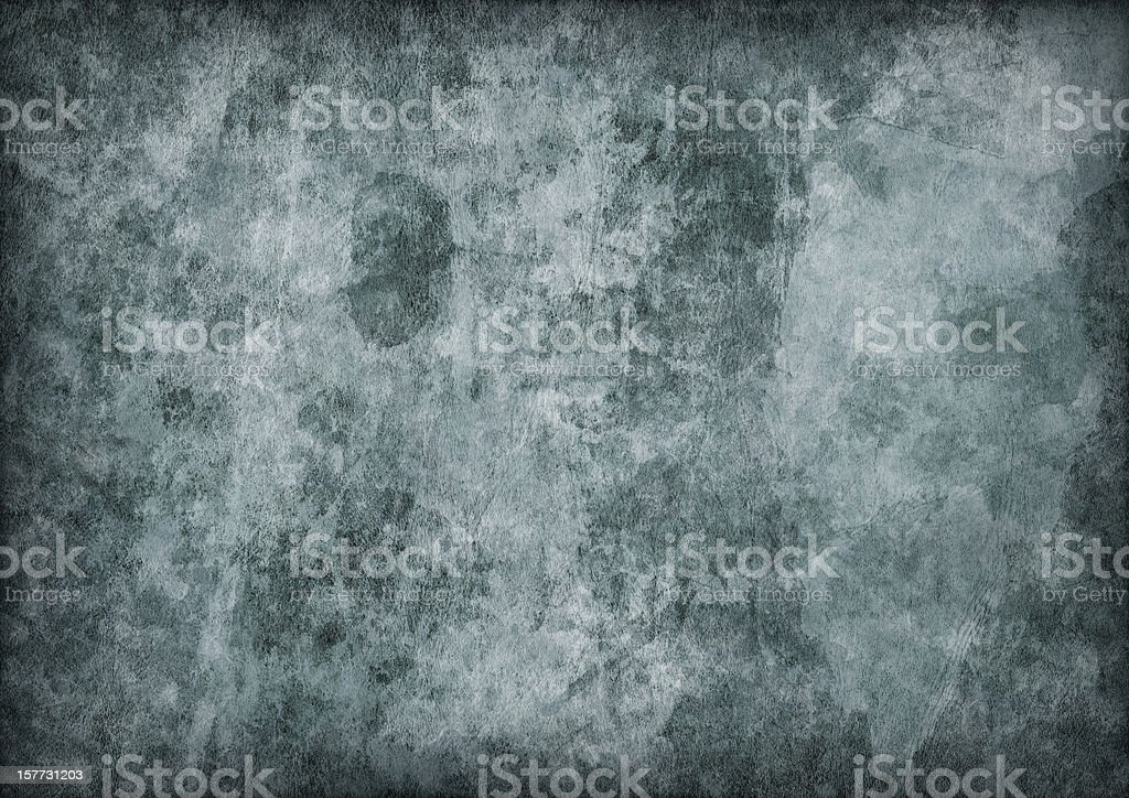 Hi-Res Antique Green Animal Skin Parchment Mottled Vignette Grunge Texture royalty-free stock photo