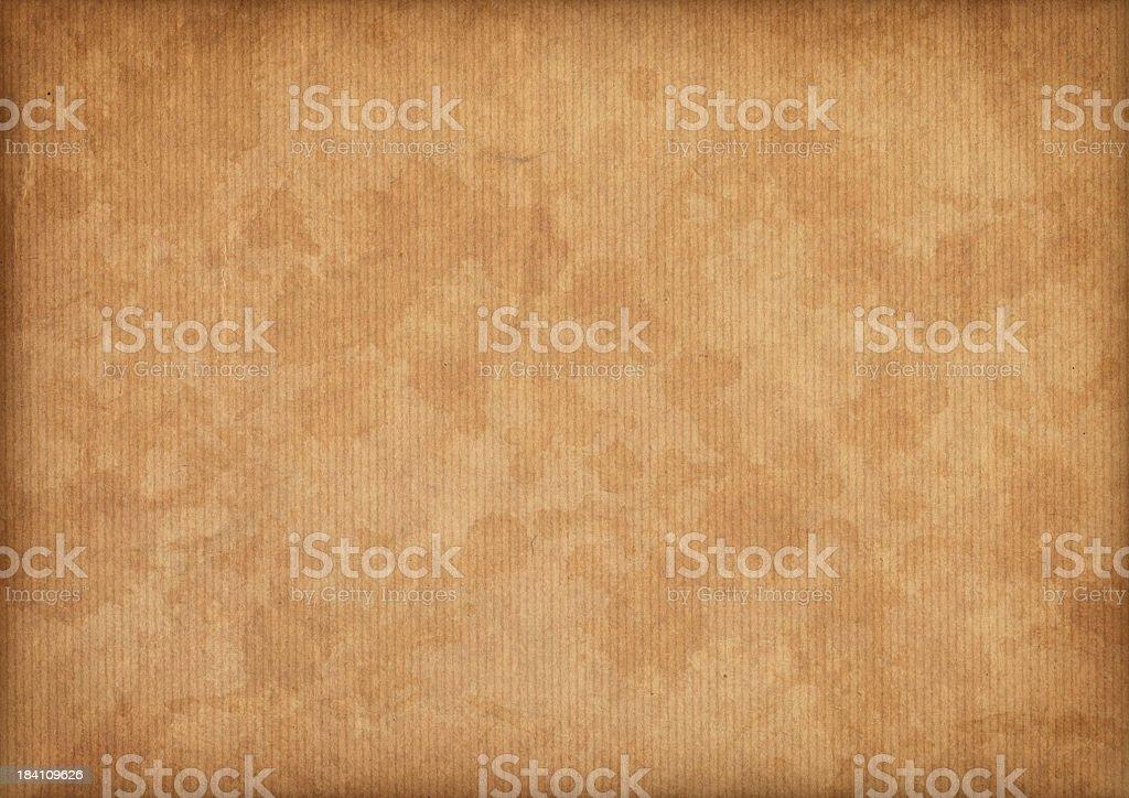Hi-Res Antique Vignette Mottled Brown Striped Kraft Paper Texture royalty-free stock photo