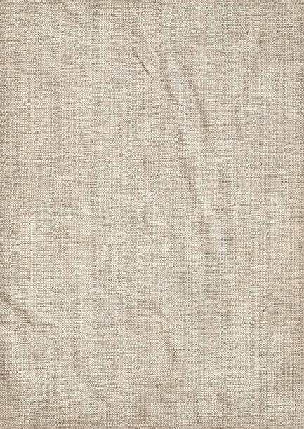 Hi-Res Artist's Coarse Unprimed Linen Canvas Wrinkled Grunge Texture stock photo