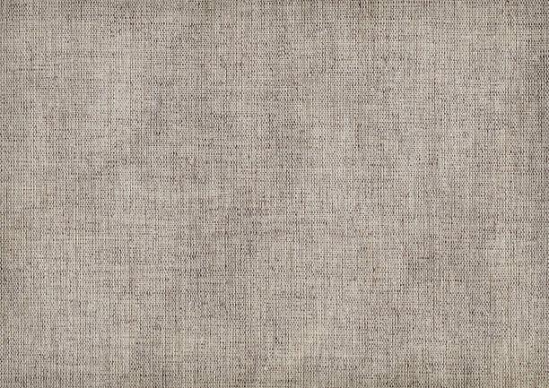 Hi-Res Artist's Linen Duck Canvas Crumpled Vignette Grunge Texture stock photo