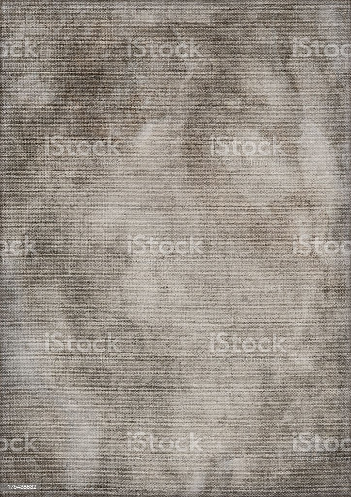 Hi-Res Artist's Linen Duck Canvas Stained Vignette Grunge Texture royalty-free stock photo