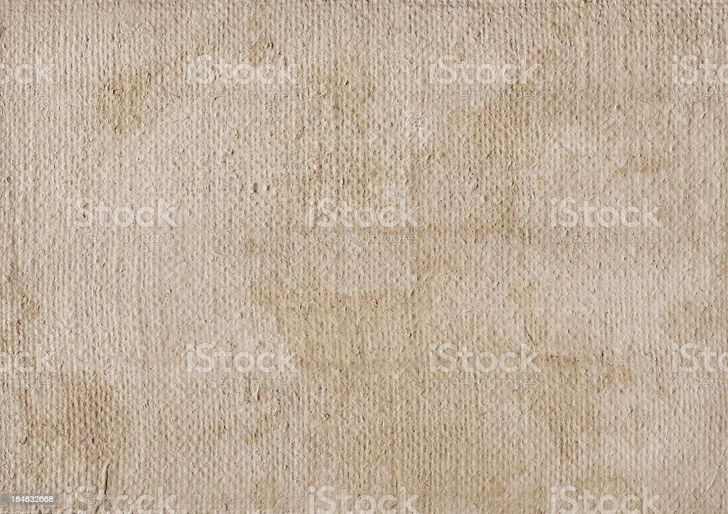 Hi-Res Artist's Primed Coarse Burlap Canvas Mottled Grunge Texture royalty-free stock photo