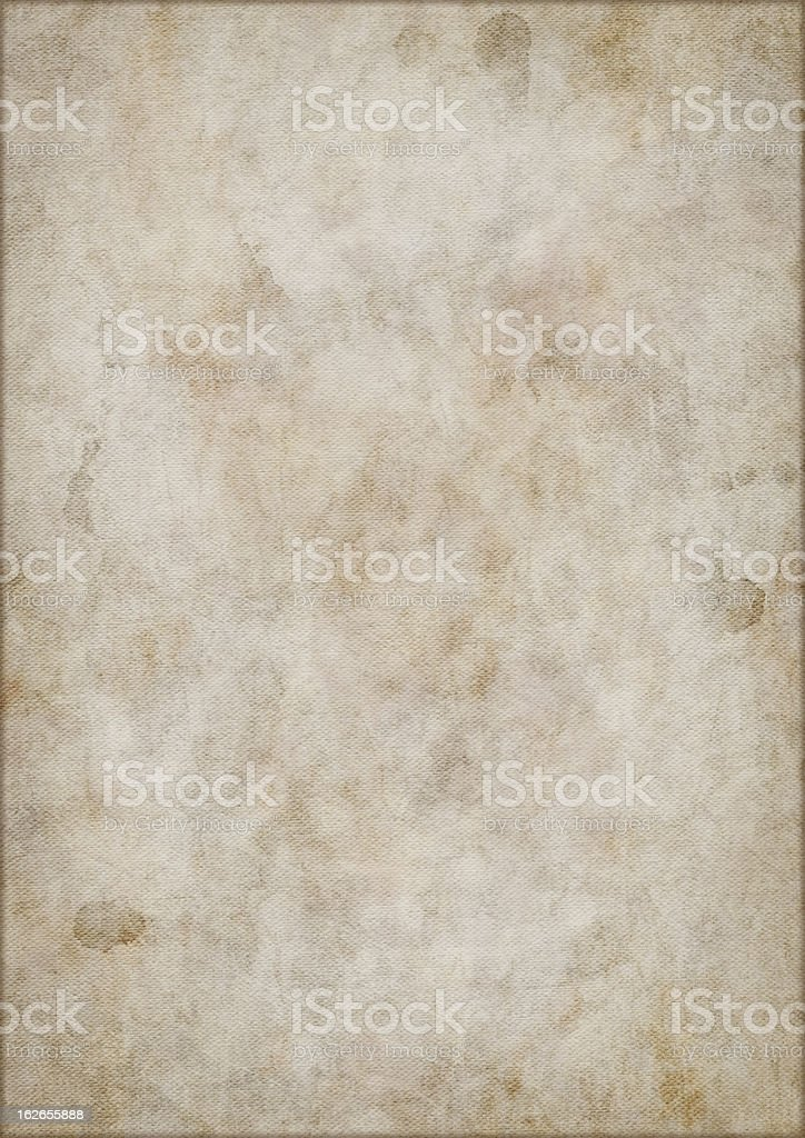 Hi-Res Artist's Primed Cotton Duck Canvas Mottled Vignetted Grunge Texture royalty-free stock photo