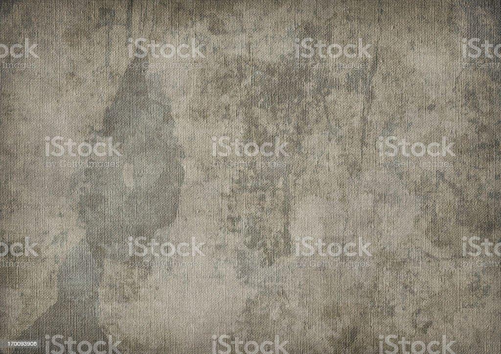 Hi-Res Artist's Primed Linen Canvas Mottled Blotted Vignette Grunge Texture royalty-free stock photo