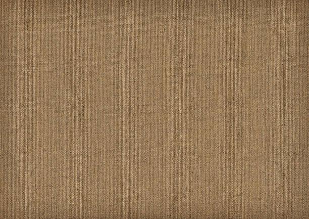 Hi-Res Artist's Primed Linen Duck Canvas Reverse Side Grunge Texture stock photo