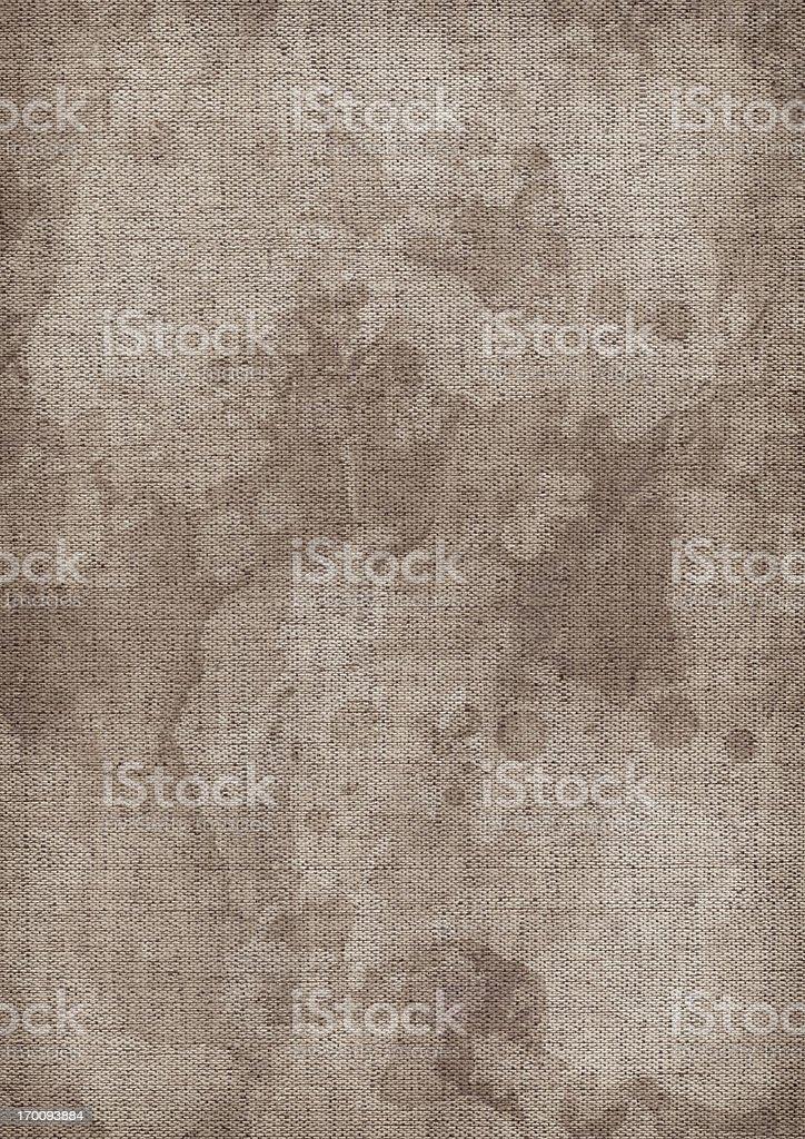 Hi-Res Artist's Unprimed Linen Canvas Mottled Blotted Vignette Grunge Texture royalty-free stock photo