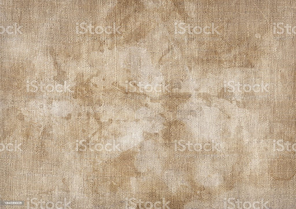 Hi-Res Artist's Unprimed Linen Duck Canvas Stained Mottled Grunge Texture royalty-free stock photo