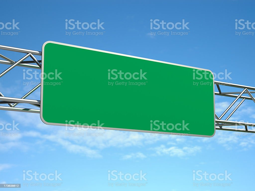 Hi-Res Blank Road Sign stock photo