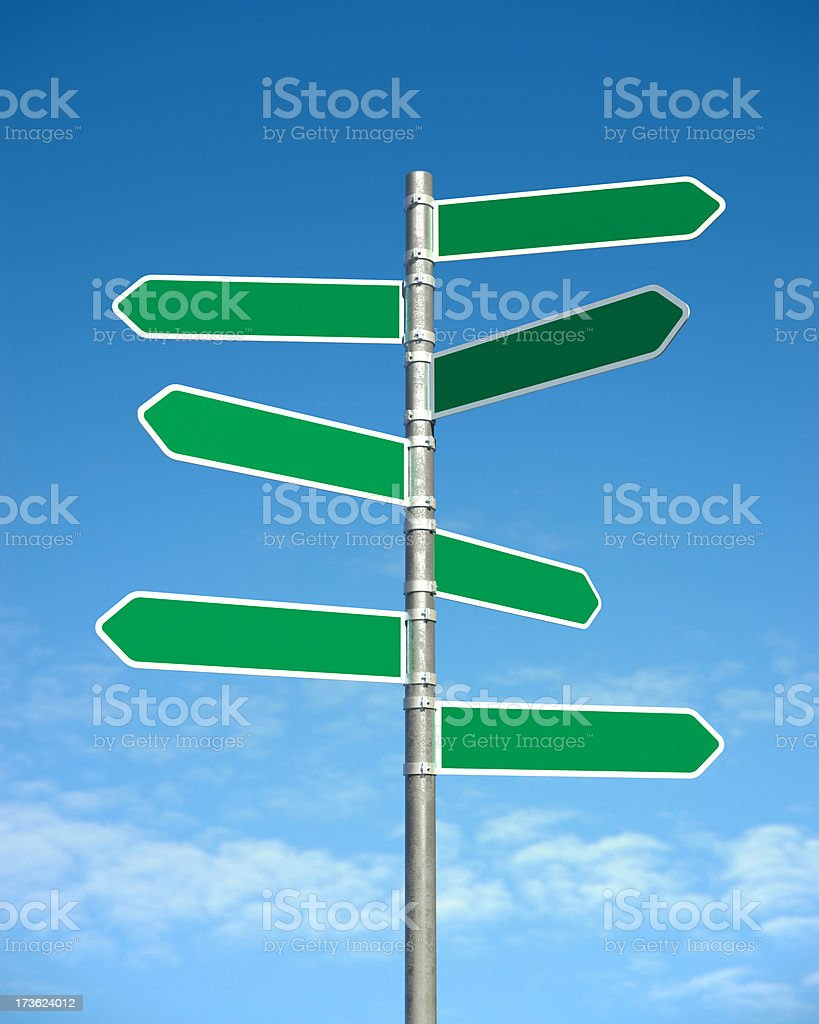 Hi-Res Blank Road Signs stock photo