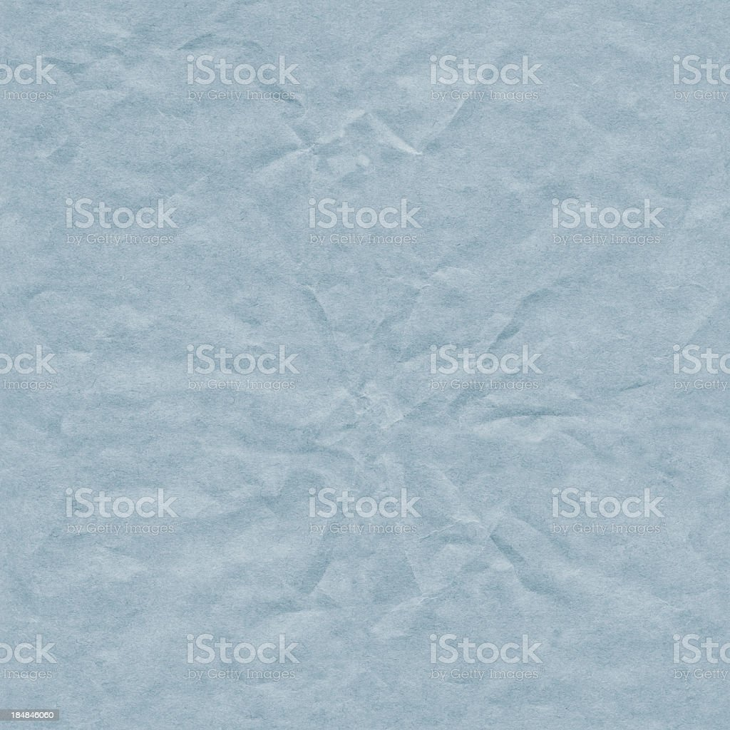 Hi-Res Blue Crushed Recycle Paper Seamless Texture Tile royalty-free stock photo