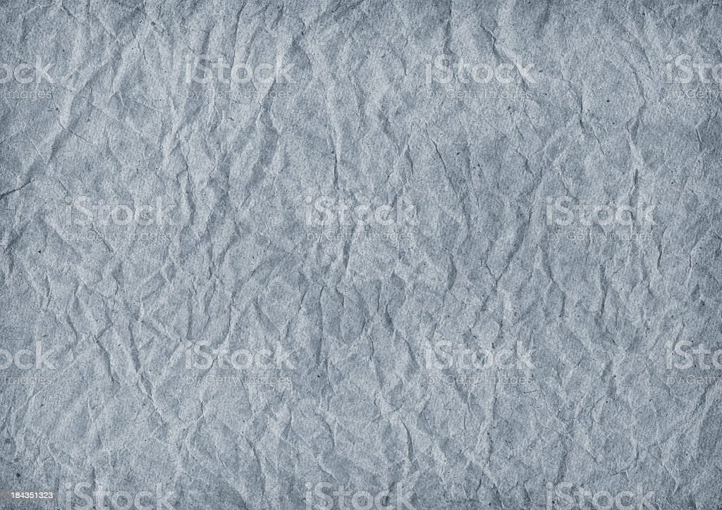 Hi-Res Blue Recycle Striped Wrapping Paper Crumpled Vignette Grunge Texture royalty-free stock photo