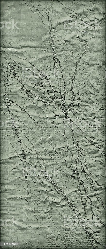 Hi-Res Green Primed Jute Canvas Crushed Exfoliated Vignette Grunge Texture royalty-free stock photo