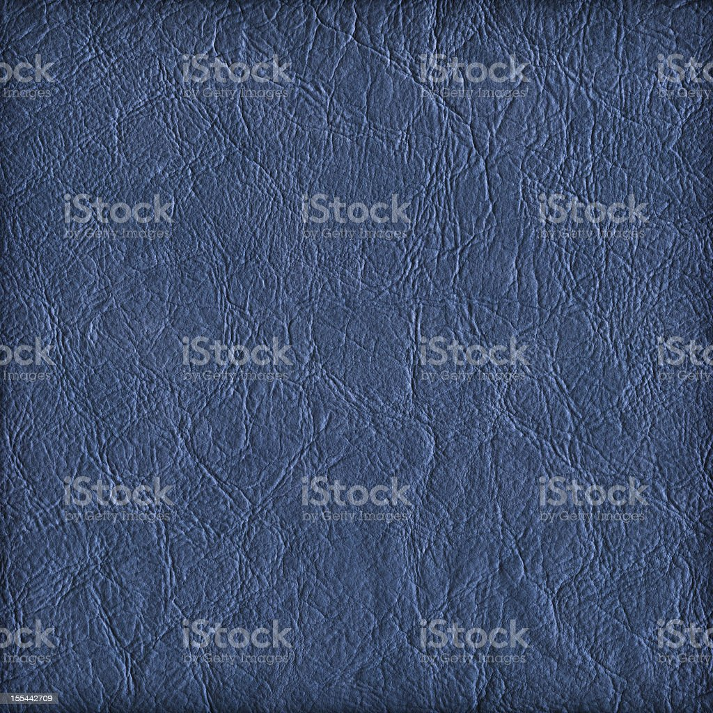 Hi-Res Marine Blue Eco Leather Crumpled Vignette Grunge Texture stock photo