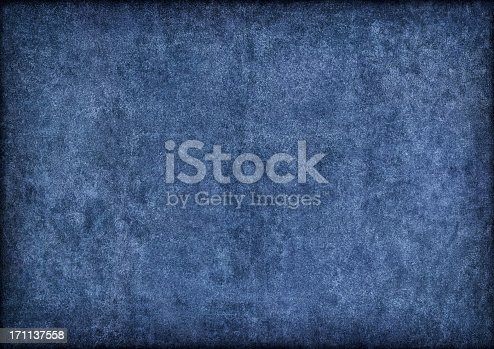 682471362 istock photo Hi-Res Marine Blue Pig Leather Suede Vignette Grunge Texture 171137558
