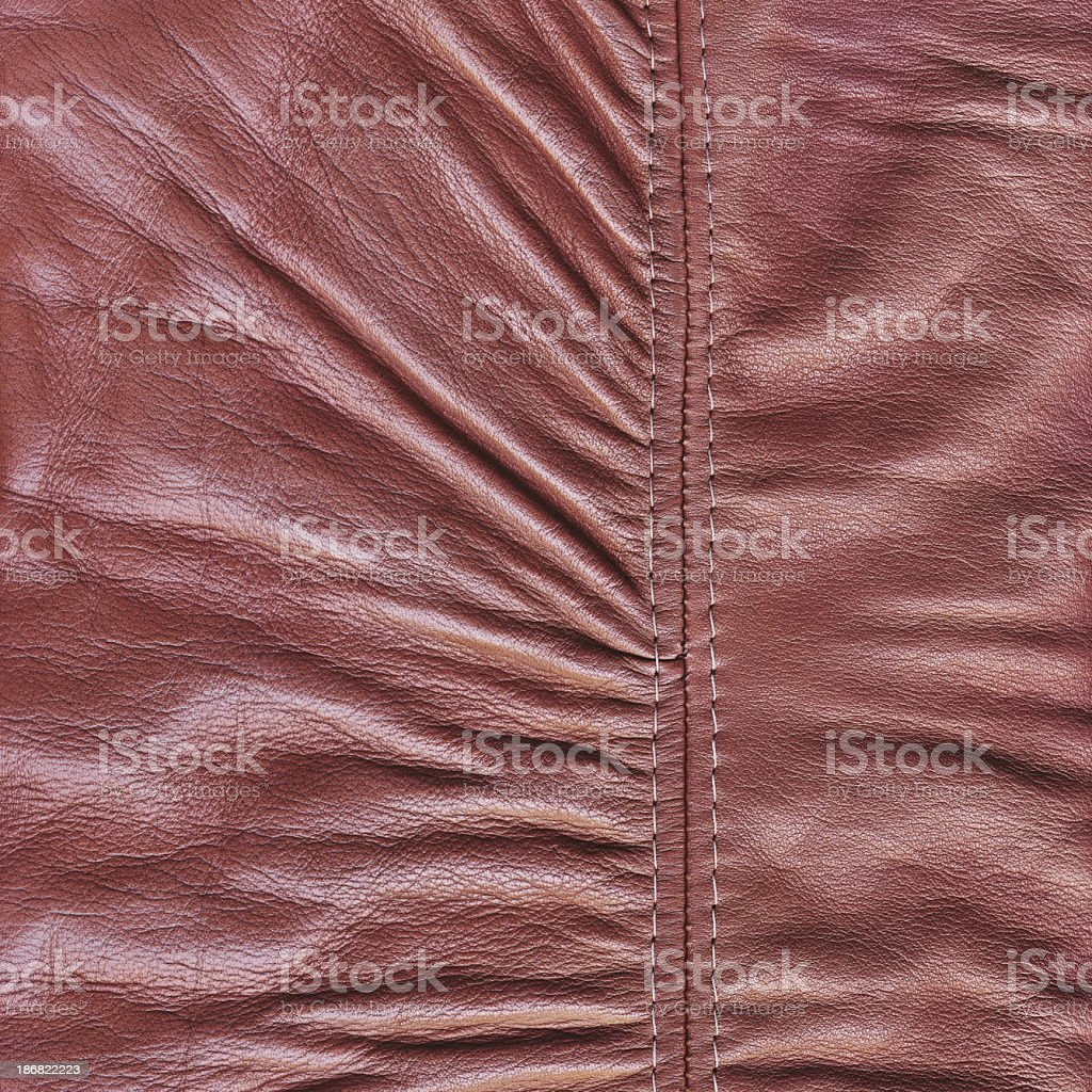 Hi-Res Maroon-red Veal Nappa Leather Patchwork Crumpled Wizened Grunge Texture royalty-free stock photo