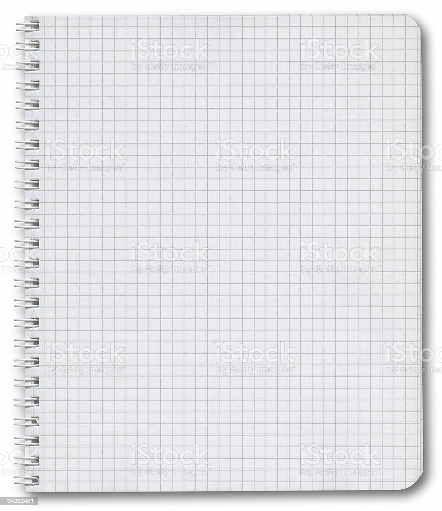 Hi-res notepad with clipping path on white background royalty-free stock photo