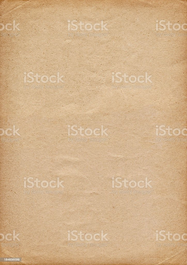 Hi-Res Old Recycle Brown Paper Crumpled Vignette Grunge Texture royalty-free stock photo