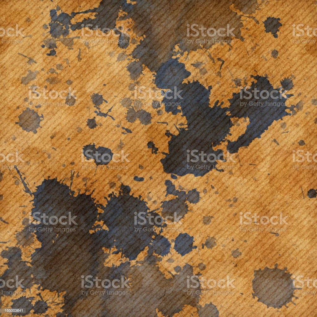 Hi-Res Old Recycled Striped Brown Kraft Paper Inkblotted Grunge Texture royalty-free stock photo