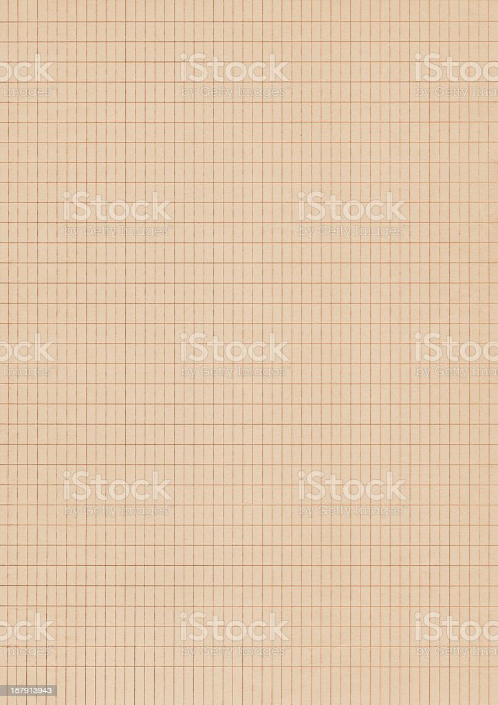 Hi-Res Pale Peach Yellow Checkered Graph Paper Background royalty-free stock photo