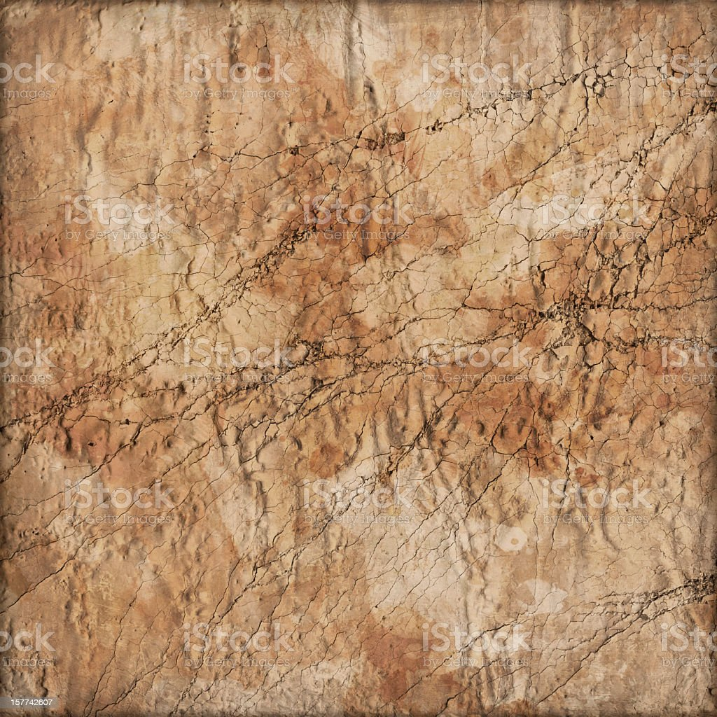 Hi-Res Primed Jute Canvas Crushed Cracked Peeled Vignette Grunge Texture royalty-free stock photo