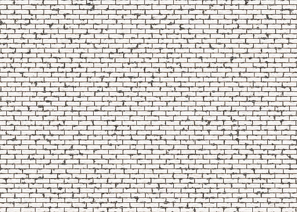 hi-res red small brick wall pattern with noise texture stock photo