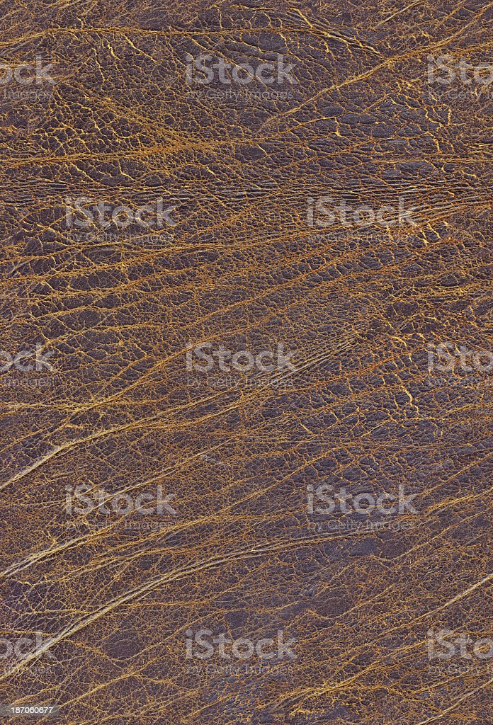 Hi-Res Seamless Old Brown Cowhide Crumpled Wizened Grunge Texture royalty-free stock photo
