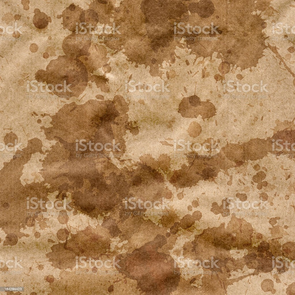 Hi-Res Striped Brown Kraft Paper Crumpled Blotted Mottled Grunge Texture royalty-free stock photo