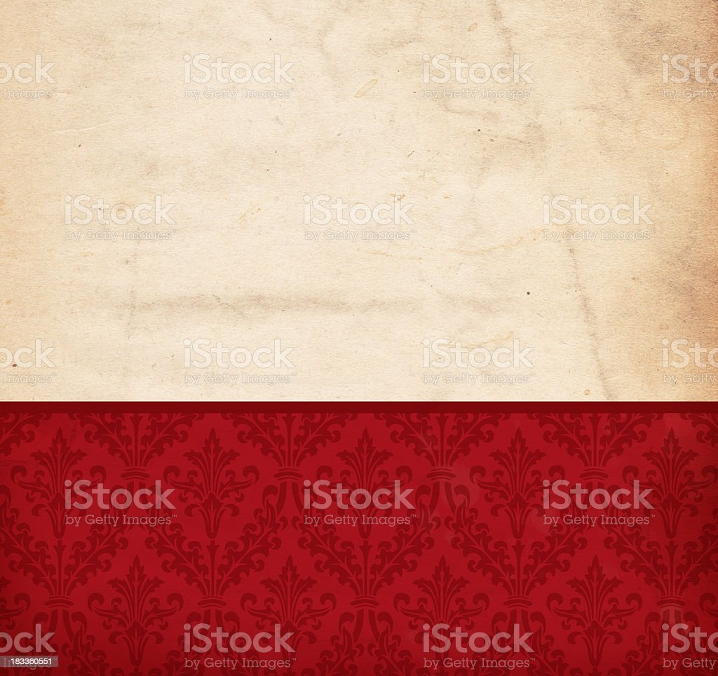 Hi-Res Vintage Damask Background (XXXL) royalty-free stock photo