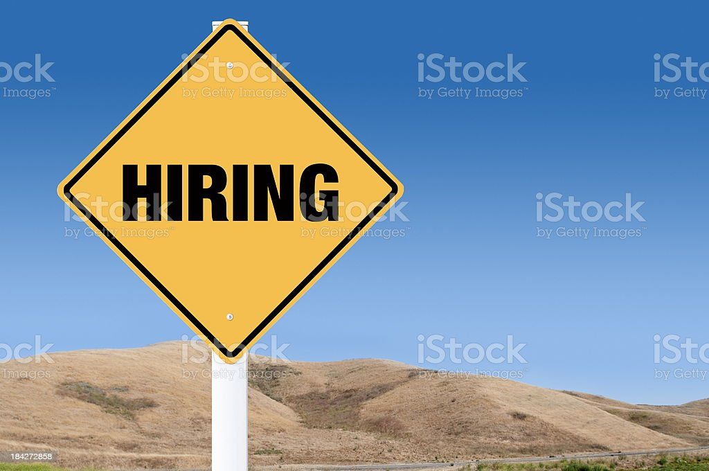 Hiring sign royalty-free stock photo